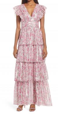 Saylor Stefania Floral Tiered Maxi Dress