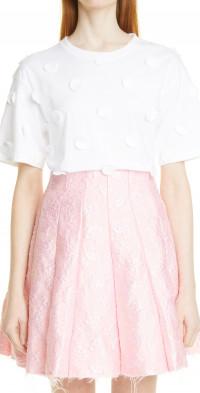 Women's Shushu/tong Dots Applique Cotton T-Shirt