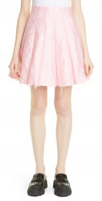 Women's Shushu/tong Pleated Cloque Miniskirt
