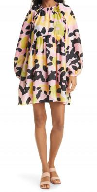 Stine Goya Kelly Floral Print Long Sleeve Babydoll Dress