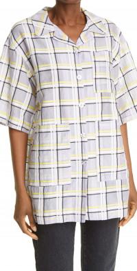 Stine Goya Skyla Check Organic Cotton & Silk Organza Shirt