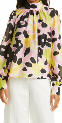 Women's Stine Goya Eddy Floral Mock Neck Blouse