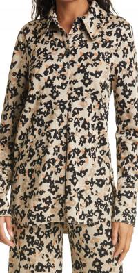 Women's Stine Goya James Floral Knit Button-Up Shirt