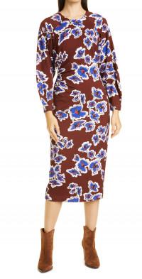 Tanya Taylor Amara Floral Long Sleeve Dress