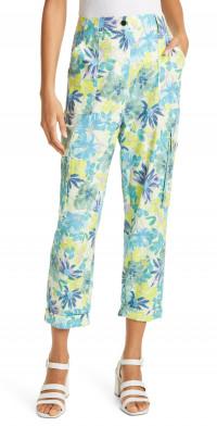Tanya Taylor Avery Floral Print High Waist Pants