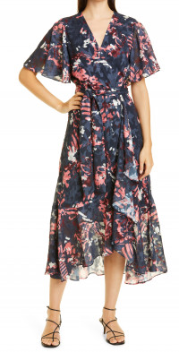 Tanya Taylor Blaire Floral High Low Dress