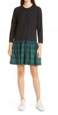 Tanya Taylor Katlyn Long Sleeve Stretch Organic Cotton Dress