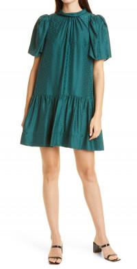 Tanya Taylor Rosie Bow Back Silk Minidress