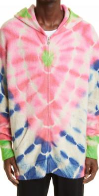 The Elder Statesman Tie Dye Cashmere Hoodie Sweater