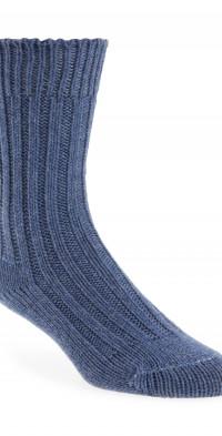 The Elder Statesman Yosemite Rib Cashmere Socks in Blue Jean at Nordstrom