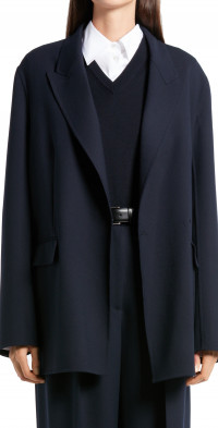 The Row Tristan Double Breasted Wool Jacket