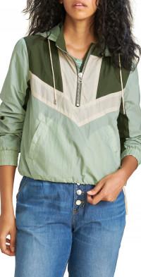 Veronica Beard Avery Half Zip Hooded Jacket