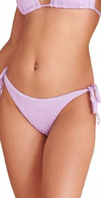 Veronica Beard Gavitella Textured Side Tie Bikini Bottoms