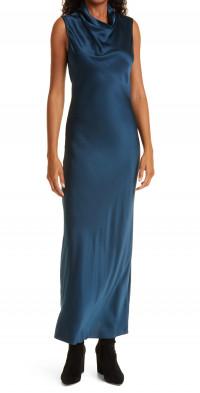 Veronica Beard Kura Cowl Neck Sleeveless Silk Dress