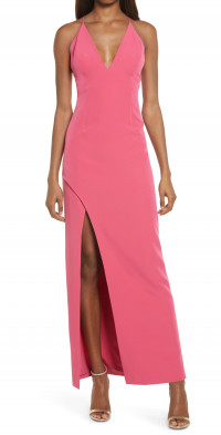 WAYF Open Back Gown