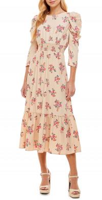 WAYF Sabrina Open Back Midi Dress