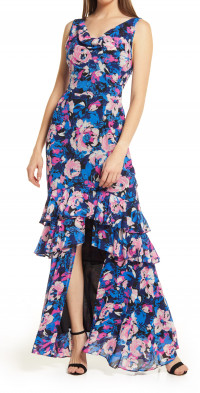 WAYF The Miramar Floral High-Low Gown