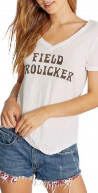 Wildfox Field Frolicker V-Neck Graphic Tee