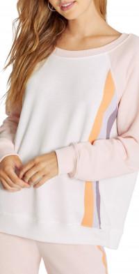Wildfox Grapefruit Stripes Crewneck Sweatshirt