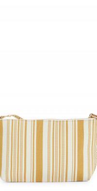 Zimmermann Stripe Jacquard Pouch in Black/Yellow at Nordstrom