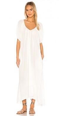 Sand Hill Cove Puff Sleeve Midi Dress