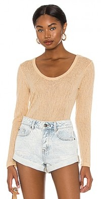 Rosewater Long Sleeve Knit Top