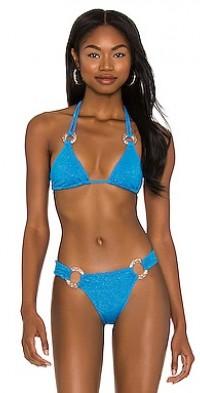 Nadia Glitter Tri Bikini Top