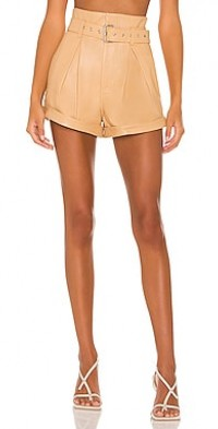 Azan Leather Shorts