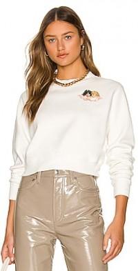 Squiggle Angels Crop Sweatshirt