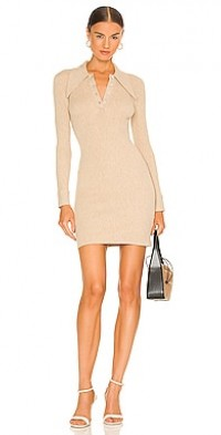 Long Sleeve Mini Polo Dress