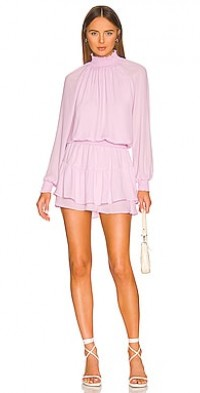 Turtleneck Ruffle Skirt Dress