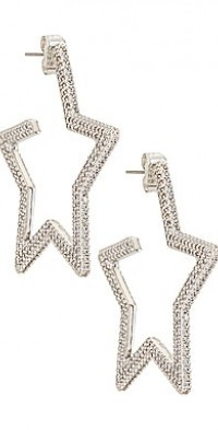 Pave Star Hoops