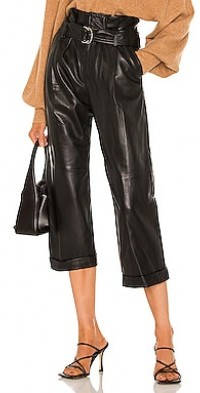 Dixon Leather Cropped Pant