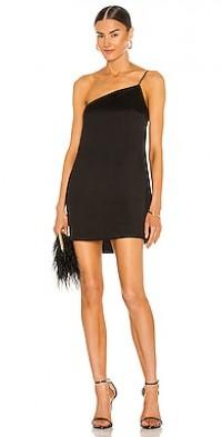 Quinn One Shoulder Satin Crepe Shift Dress