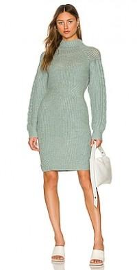 Brooklyn Knit Cable Long Sleeve Mini Dress