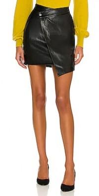 Gabriella Vegan Leather Asymmetric Mini Skirt