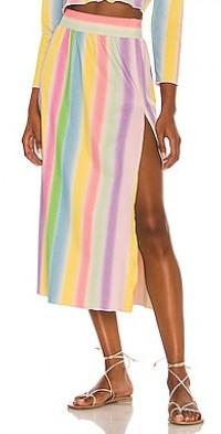 Leah Shimmer Midi Skirt