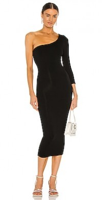 3/4 Sleeve One Shoulder Dress
