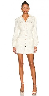 Aubrie Tweed Mini Dress