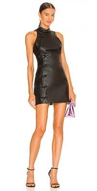 Sharon Faux Leather Mini Dress