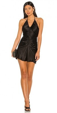 Giselle Ruched Halter Mini Dress