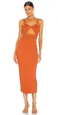 Simone Fitted Cut Out Midi Dress