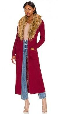 Lombardi Faux Fur Long Cardigan