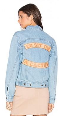 Go Sit on a Cactus Denim Jacket