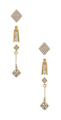 The Deco Diamond Earring Set