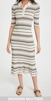 Polo Dress In Cotton Crepe Yarn
