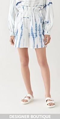 Painter's Shibori Blue Culottes
