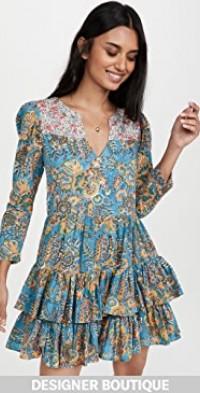 Squash Blossom Turquoise Print Dress