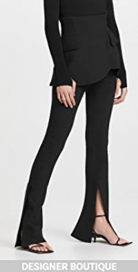 Fitted Pants with Basque Detail