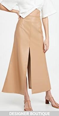 Front Back Slit Maxi Skirt